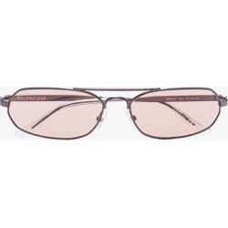 Balenciaga Eyewear grey thin oval sunglasses found on Bargain Bro UK from Browns Fashion