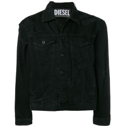 Diesel distressed denim jacket - Black found on MODAPINS from FARFETCH.COM Australia for USD $238.99