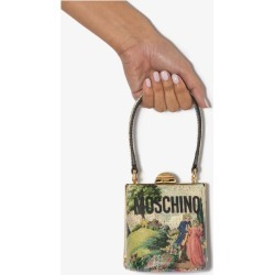 Moschino Womens Neutrals Multicoloured Painting Print Leather Mini Bag found on Bargain Bro UK from Browns Fashion