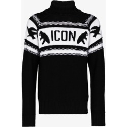 Dsquared2 Mens Black Icon Detail Virgin Wool Sweater found on MODAPINS from Browns Fashion for USD $750.10