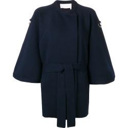 Chloé cropped sleeve baroque intarsia coat - Blue found on Bargain Bro UK from FarFetch.com- UK