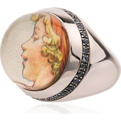 Francesca Villa 9k white gold Cicely Mary Barker sapphire ring - found on Bargain Bro India from FarFetch.com - US for $3278.00