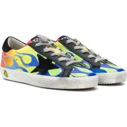 Golden Goose Kids flame flat trainers - Yellow found on Bargain Bro UK from FarFetch.com- UK
