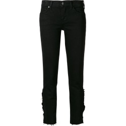7 For All Mankind distressed effect jeans - Black found on MODAPINS from FarFetch.com- UK for USD $319.40