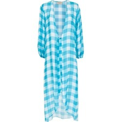 Adriana Degreas Checked robe - Blue found on MODAPINS from FarFetch.com- UK for USD $1576.52