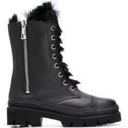 Baldinini fur lined combat boots - Black found on MODAPINS from FARFETCH.COM Australia for USD $1031.42