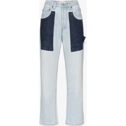Beau Souci high waist patch straight jeans found on MODAPINS from Browns Fashion for USD $273.95