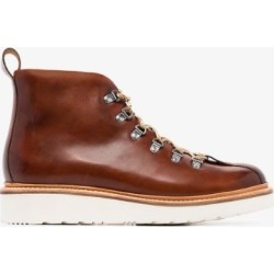 Grenson Mens Brown Bobby Leather Hiking Boots found on MODAPINS from Browns Fashion for USD $371.79