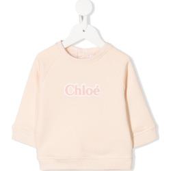 Chloé Kids logo crewneck sweatshirt - Neutrals found on Bargain Bro UK from FarFetch.com- UK