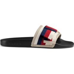 Gucci Satin slides with Sylvie bow - White found on Bargain Bro UK from FarFetch.com- UK for $437.70