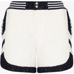 Faith Connexion Womens White Patterned Tweed Shorts found on MODAPINS from Browns Fashion for USD $494.72