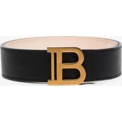 Balmain Womens Black B Logo-plaque Buckled Belt found on Bargain Bro UK from Browns Fashion