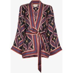 Gucci Silk Tie Kimono Style Jacket