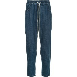 Bassike drawstring fitted trousers - Blue found on MODAPINS from FarFetch.com - US for USD $360.00