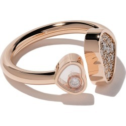 Chopard 18kt rose gold Happy Hearts diamond ring found on Bargain Bro India from FarFetch.com - US for $3210.00