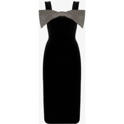 Christopher Kane Womens Black Bow-detail Midi Dress found on MODAPINS from Browns Fashion for USD $1167.55