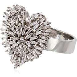 Suzanne Kalan 18K white gold and diamond firework heart ring - found on Bargain Bro India from FarFetch.com - US for $5729.00
