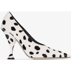 Burberry Womens Black And White Spotted 105 Calf Hair Pumps found on Bargain Bro UK from Browns Fashion