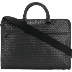 3a6f6d435bd7 Bottega Veneta nero Intrecciato calf briefcase - Black found on MODAPINS  from FarFetch.com -