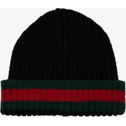 Gucci Mens Black Web Detail Beanie found on Bargain Bro UK from Browns Fashion