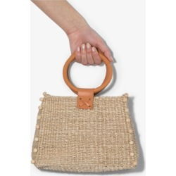 Aranaz nude Perry woven raffia box bag found on MODAPINS from Browns Fashion US for USD $180.00
