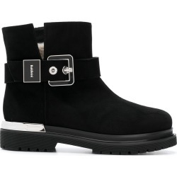 Baldinini silver buckle ankle boot - Black found on MODAPINS from FarFetch.com- UK for USD $778.54