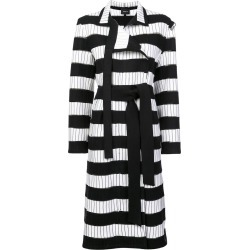 Akris striped trench coat - Black found on MODAPINS from FARFETCH.COM Australia for USD $6799.70