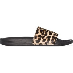 Apl Iconic leopard-print slides - Black found on Bargain Bro UK from FarFetch.com- UK for $145.90