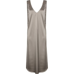 Beaufille satin midi dress - Metallic found on MODAPINS from FarFetch.com- UK for USD $304.52
