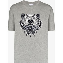 Kenzo Mens Grey Tiger Motif T-shirt found on Bargain Bro UK from Browns Fashion