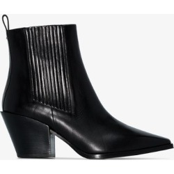 Aeyde Womens Black Kate 80 Leather Ankle Boots found on MODAPINS from Browns Fashion for USD $356.82