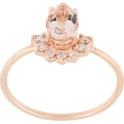 Natalie Marie 14kt rose gold morganite and diamond ring - Pink found on Bargain Bro India from FarFetch.com - US for $1334.00