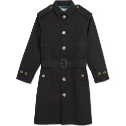 ff85bf8279076 Burberry Kids Piping Detail Tropical Gabardine Trench Coat - Black found on  MODAPINS from FarFetch.