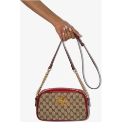 Gucci Womens Red Beige Marmont Gg Camera Bag found on MODAPINS from Browns Fashion for USD $972.06