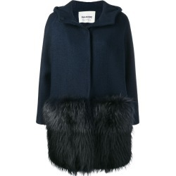 Ava Adore fur detail hooded coat - Blue found on MODAPINS from FARFETCH.COM Australia for USD $1256.39