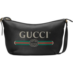 Gucci Gucci Print half-moon hobo bag - Black found on MODAPINS from FarFetch.com- UK for USD $1570.27
