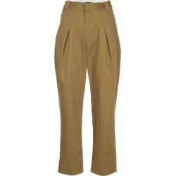 Bassike pleated cropped trousers - Brown found on MODAPINS from FarFetch.com - US for USD $252.00