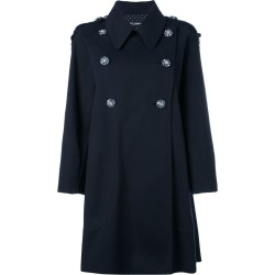 Dolce & Gabbana - double breasted coat - women - Cotton/Polyester/Spandex/Elastane - 40, Black