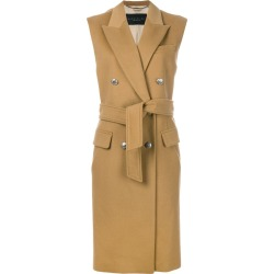 Barbara Bui sleeveless tied double breasted coat - Neutrals found on MODAPINS from FARFETCH.COM Australia for USD $1070.48