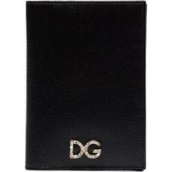 Dolce & Gabbana Womens Black Embellished Logo Leather Passport Holder found on Bargain Bro UK from Browns Fashion