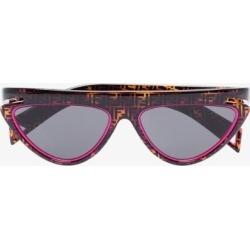 Fendi Womens Eyewear Brown Ff Print Cat Eye Sunglasses found on Bargain Bro UK from Browns Fashion