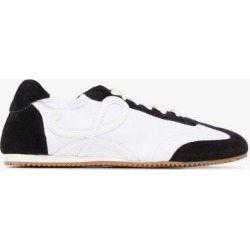 Loewe Womens White Monogram Logo Low Top Leather Sneakers found on Bargain Bro UK from Browns Fashion