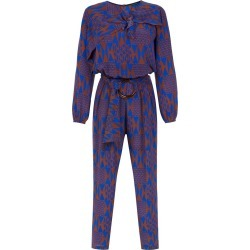 Andrea Marques printed silk jumpsuit - Multicolour found on MODAPINS from FARFETCH.COM Australia for USD $1675.66