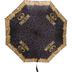 Moschino leopard baroque pattern umbrella - Black