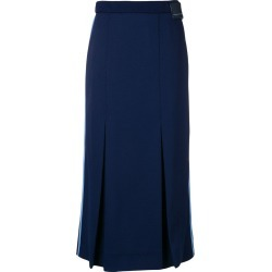 Prada side striped pleated skirt - Blue found on MODAPINS from FarFetch.com- UK for USD $633.17