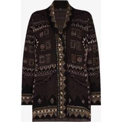 Etro Womens Purple Jacquard Knit Cardigan found on Bargain Bro UK from Browns Fashion