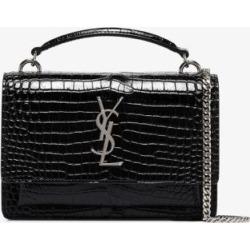 Saint Laurent Womens Black Sunset Mock Croc Leather Mini Bag found on Bargain Bro UK from Browns Fashion