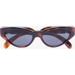 Versace Eyewear Mens Brown Medusa Medallion V Logo Sunglasses found on Bargain Bro UK from Browns Fashion