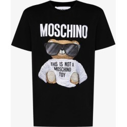 Moschino Mens Black Mosch Logo Bear Crw Ss Tee Blk found on Bargain Bro UK from Browns Fashion
