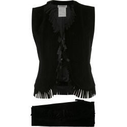 Yves Saint Laurent Vintage fringe blouse & trousers - Black found on MODAPINS from FarFetch.com- UK for USD $483.22